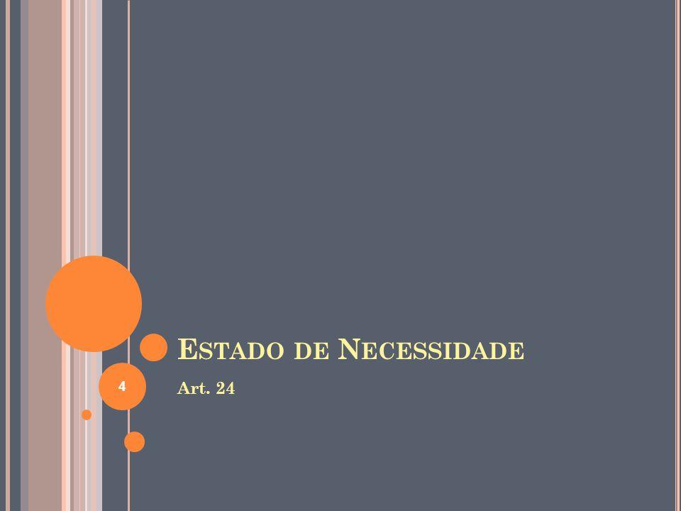 Estado de Necessidade Art. 24