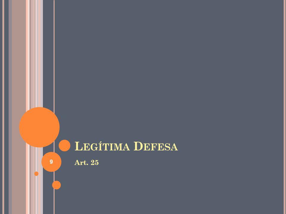 Legítima Defesa Art. 25
