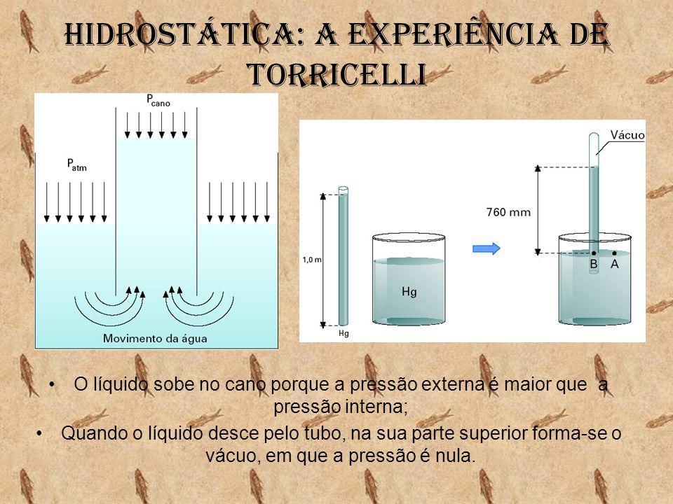 Hidrostática: A experiência de torricelli