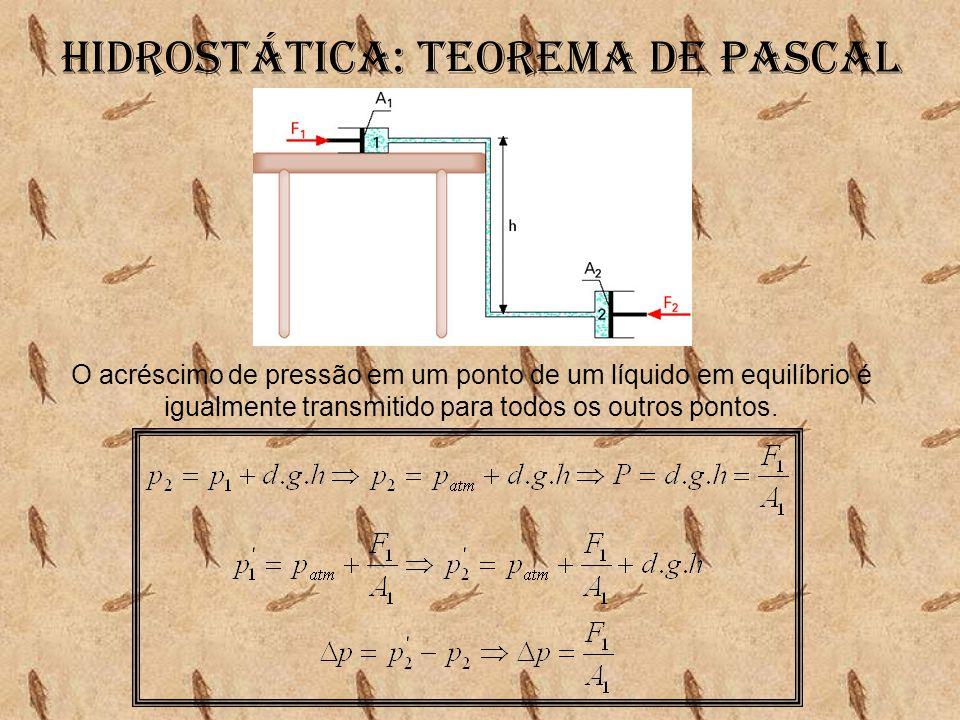 Hidrostática: Teorema de pascal