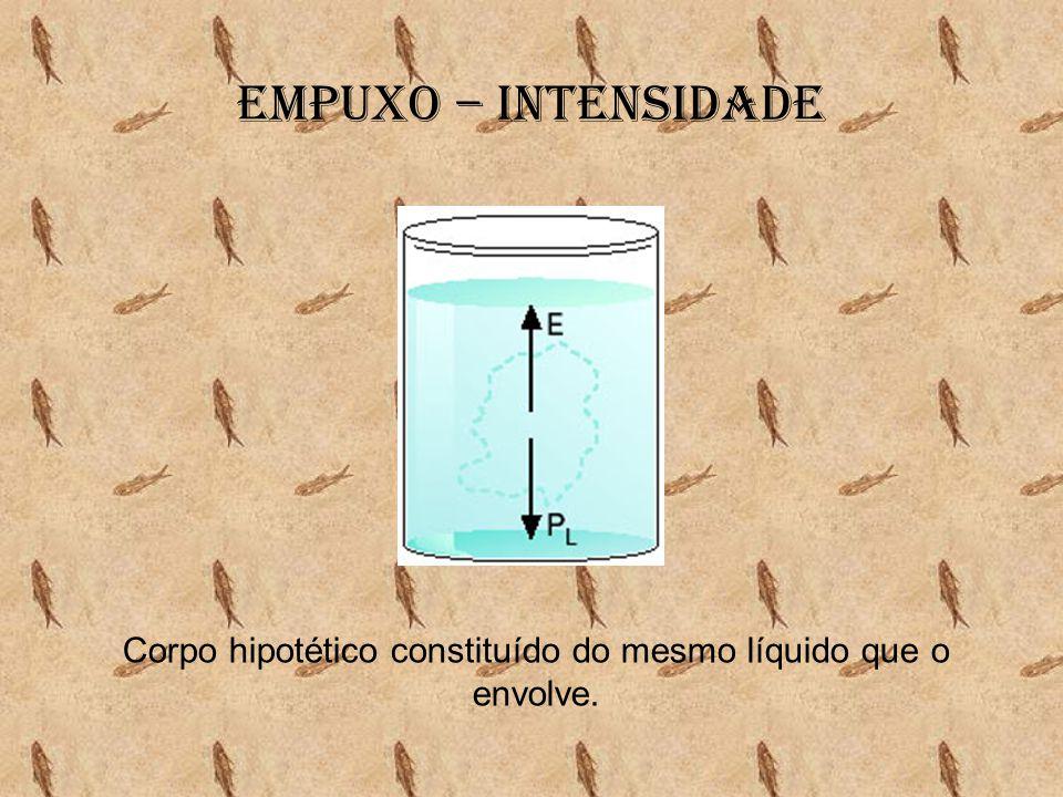 Corpo hipotético constituído do mesmo líquido que o envolve.