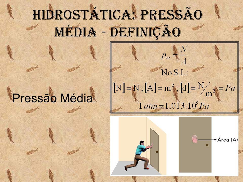 Hidrostática: Pressão média - Definição