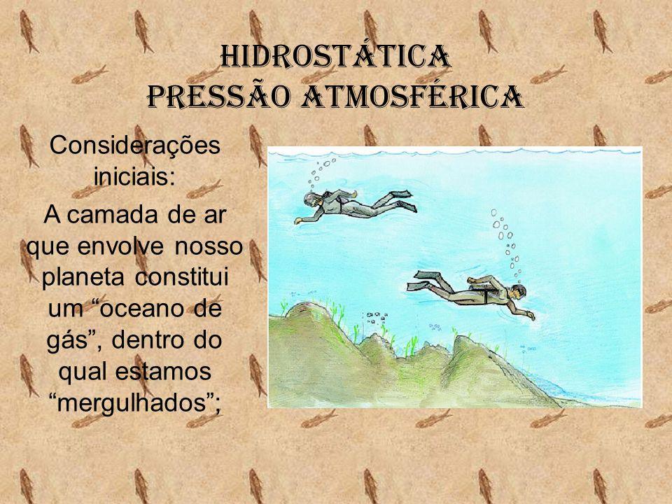Hidrostática Pressão Atmosférica