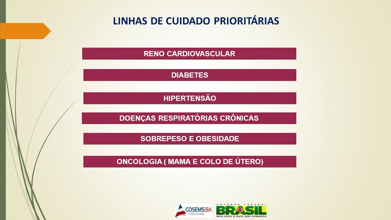 LINHAS DE CUIDADO PRIORITÁRIAS