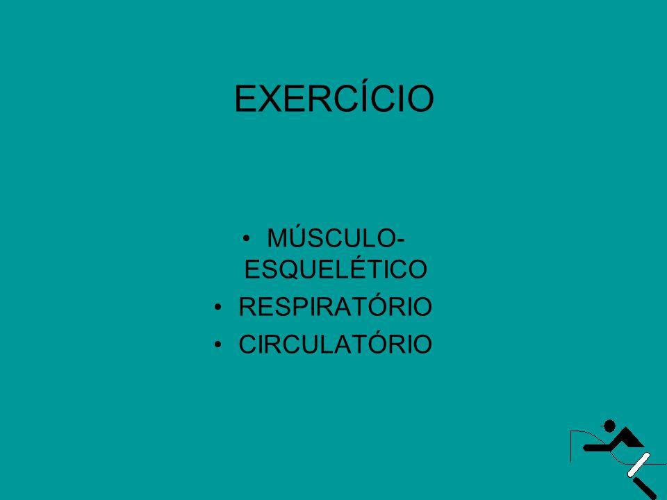 EXERCÍCIO MÚSCULO-ESQUELÉTICO RESPIRATÓRIO CIRCULATÓRIO
