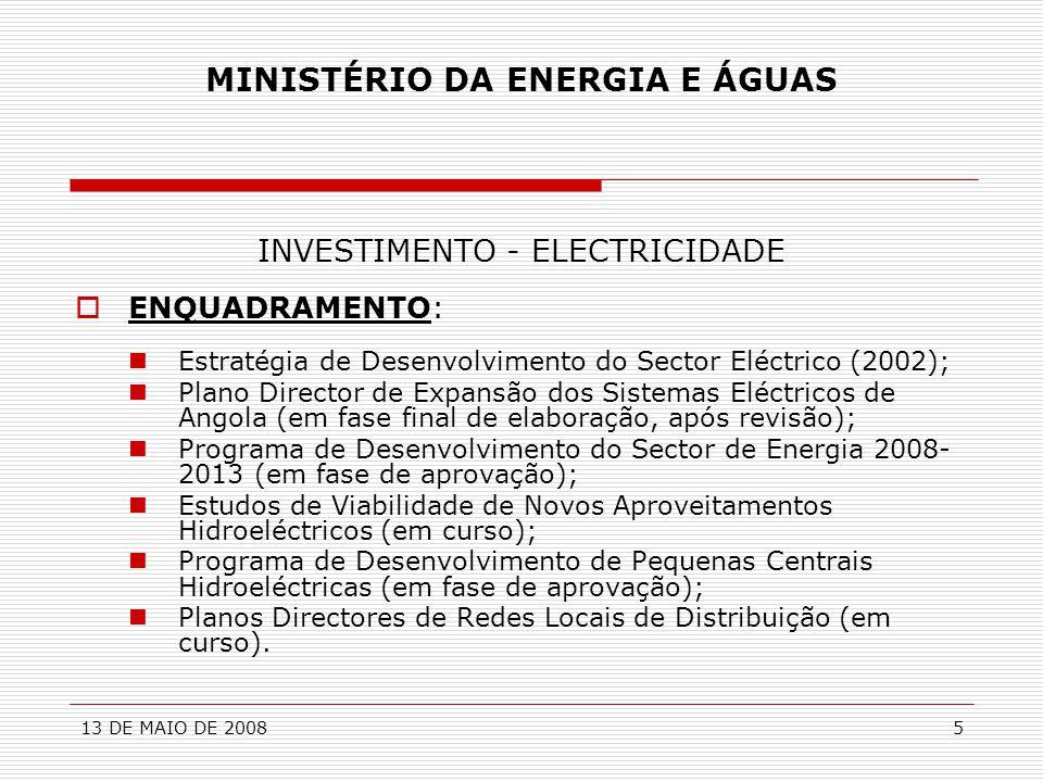MINISTÉRIO DA ENERGIA E ÁGUAS