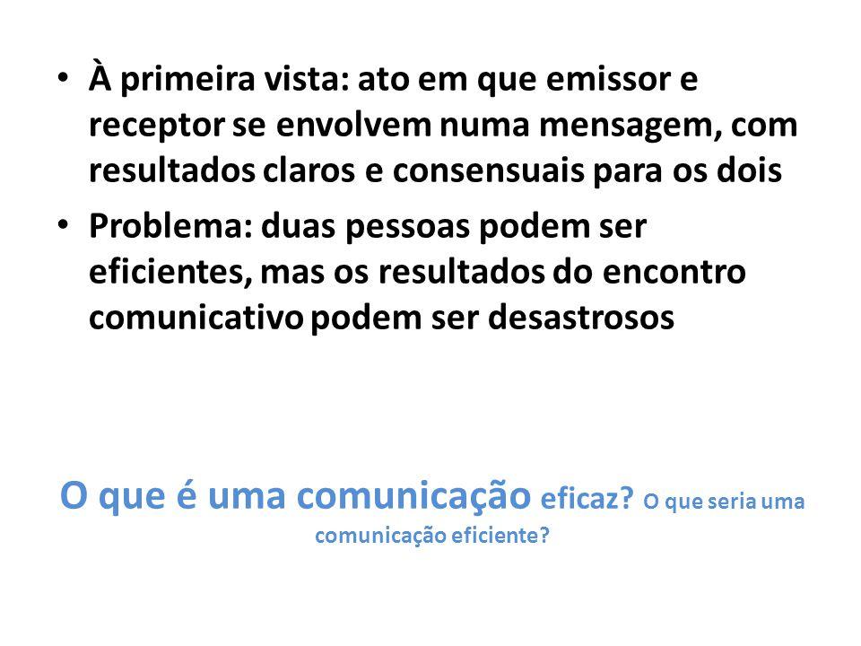 O que é uma comunicação eficaz O que seria uma comunicação eficiente
