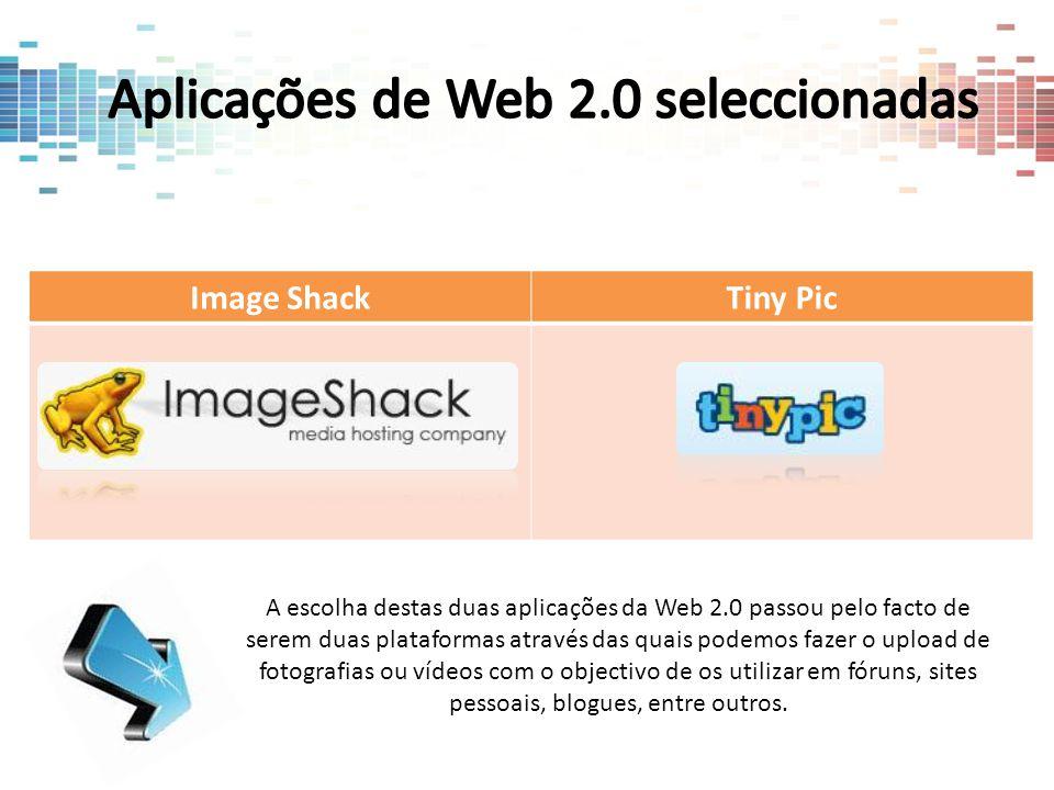 Aplicações de Web 2.0 seleccionadas