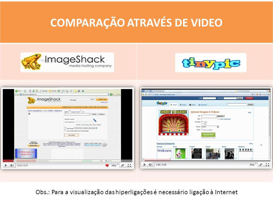 COMPARAÇÃO ATRAVÉS DE VIDEO