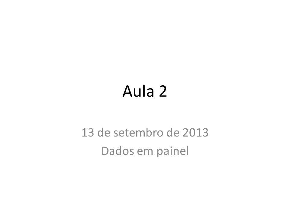 13 de setembro de 2013 Dados em painel