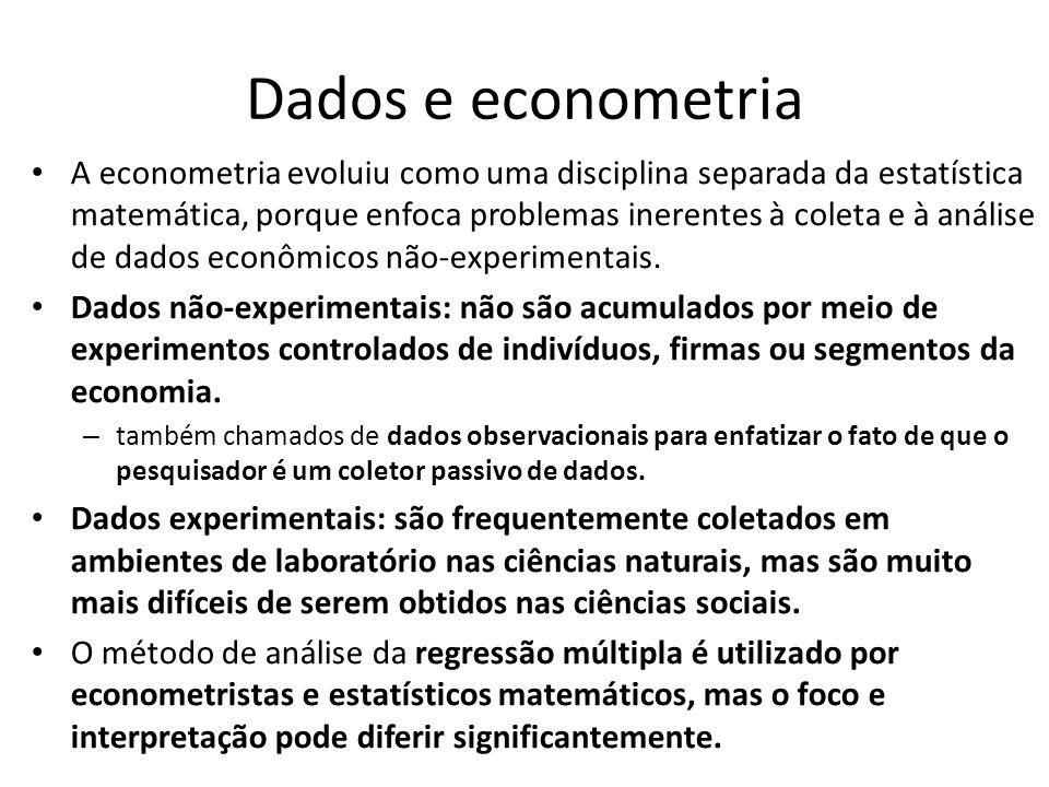 Dados e econometria