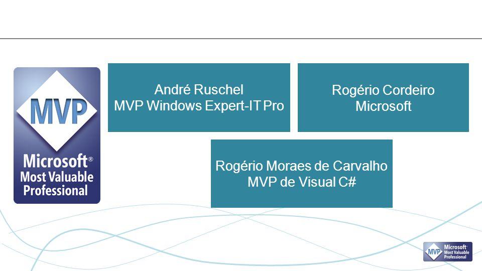 André Ruschel MVP Windows Expert-IT Pro Rogério Cordeiro Microsoft