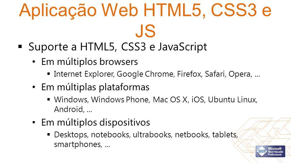 Aplicação Web HTML5, CSS3 e JS