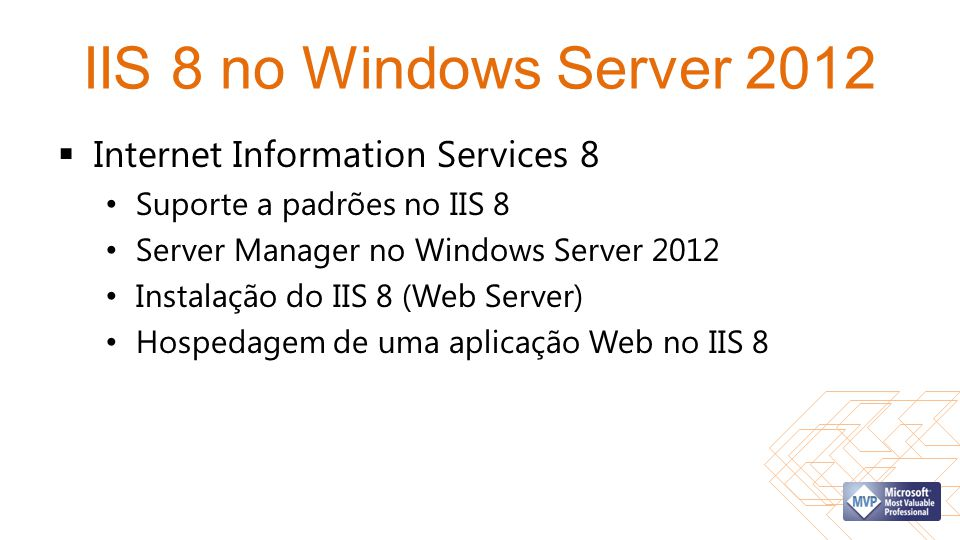 IIS 8 no Windows Server 2012 Internet Information Services 8