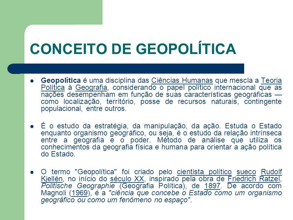 CONCEITO DE GEOPOLÍTICA