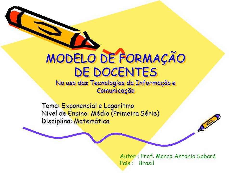 MODELO DE FORMAÇÃO DE DOCENTES No uso das Tecnologias da Informação e Comunicação