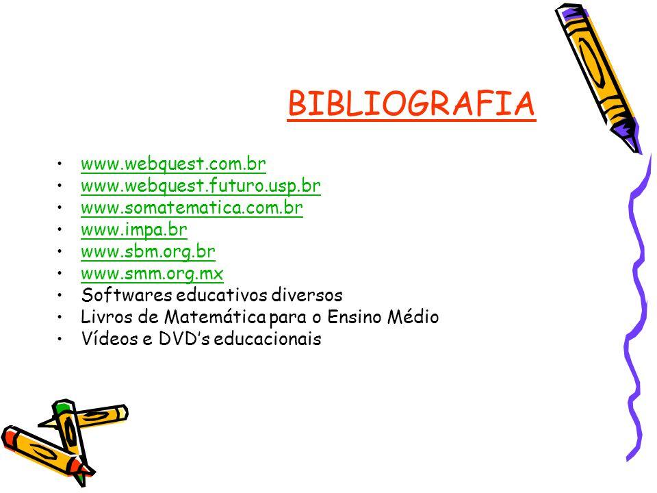 BIBLIOGRAFIA www.webquest.com.br www.webquest.futuro.usp.br