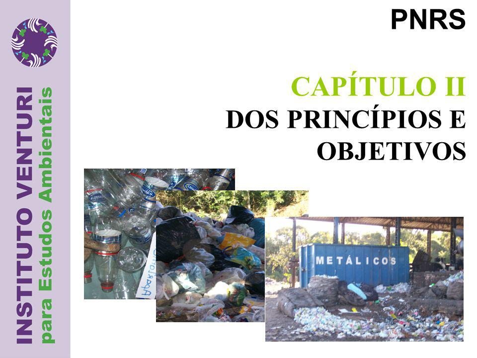 PNRS CAPÍTULO II DOS PRINCÍPIOS E OBJETIVOS
