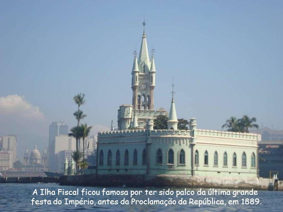 A Ilha Fiscal ficou famosa por ter sido palco da última grande