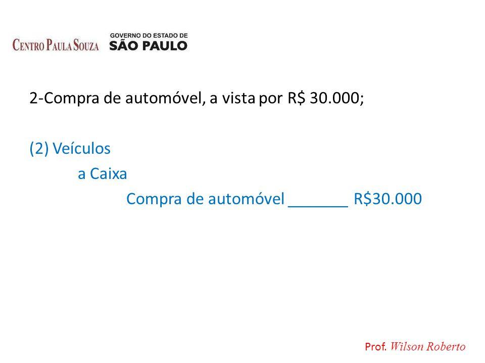 2-Compra de automóvel, a vista por R$ 30