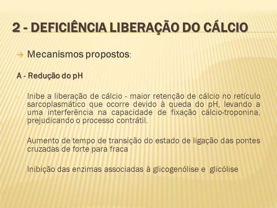 2 - Deficiência liberação do cálcio