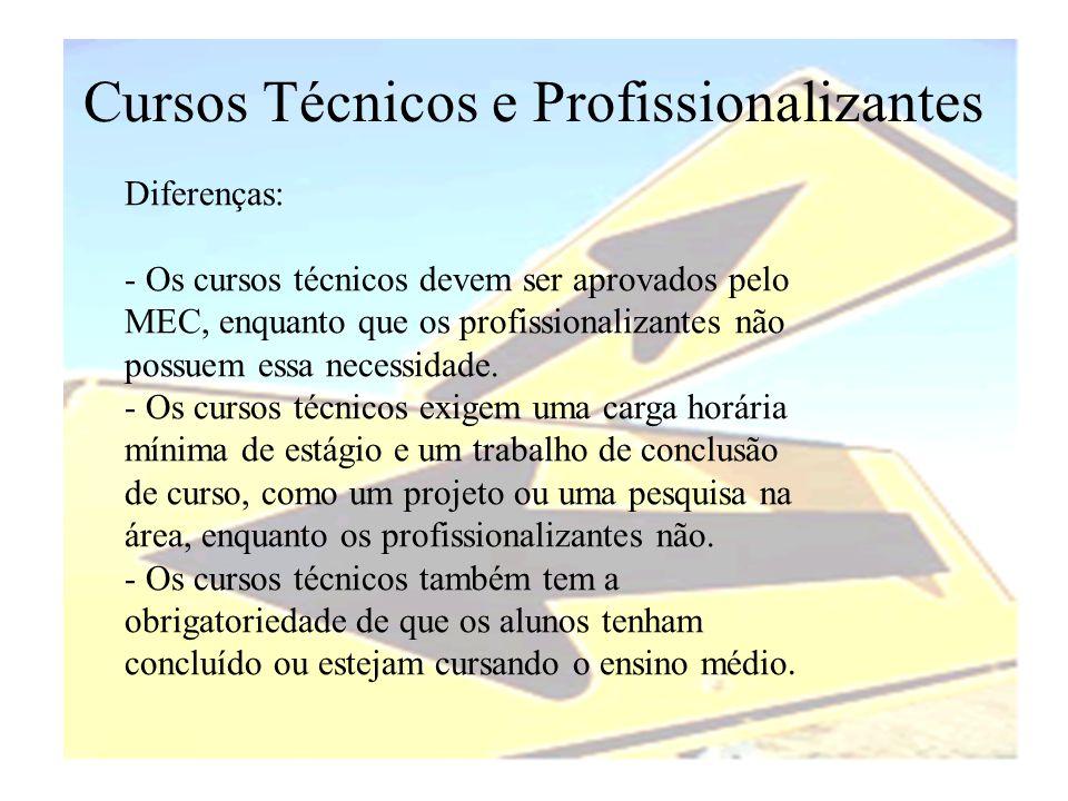 Cursos Técnicos e Profissionalizantes