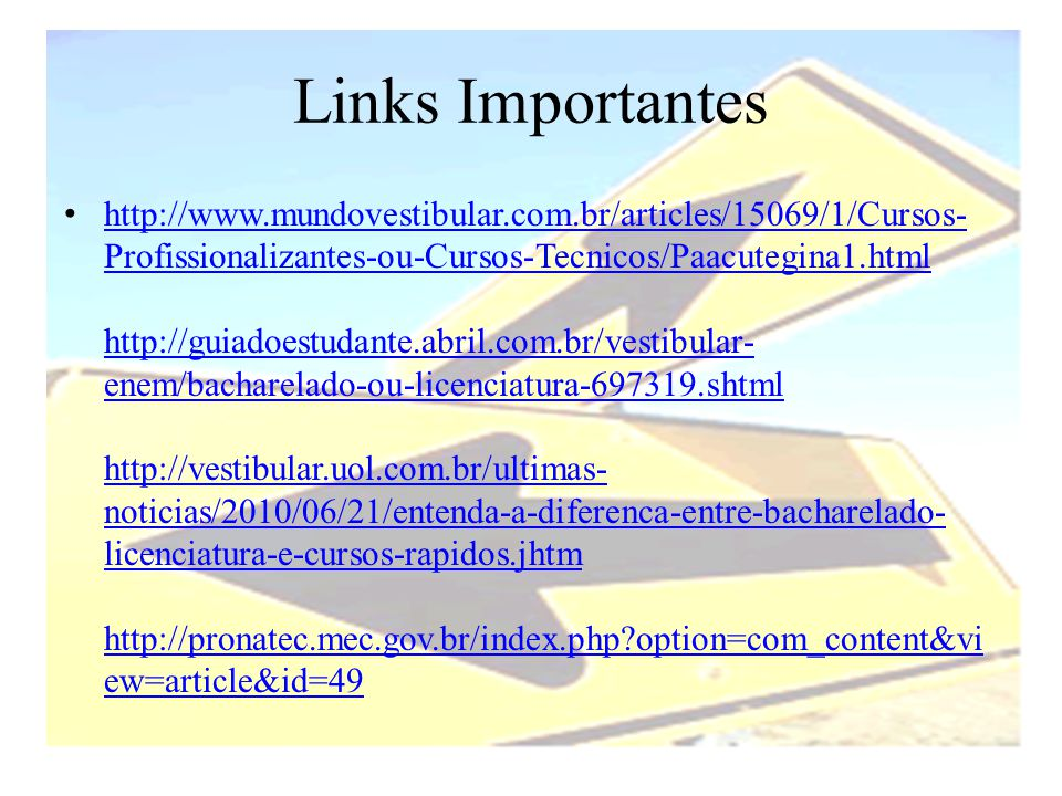 Links Importantes