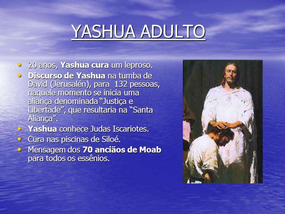 YASHUA ADULTO 20 anos, Yashua cura um leproso.