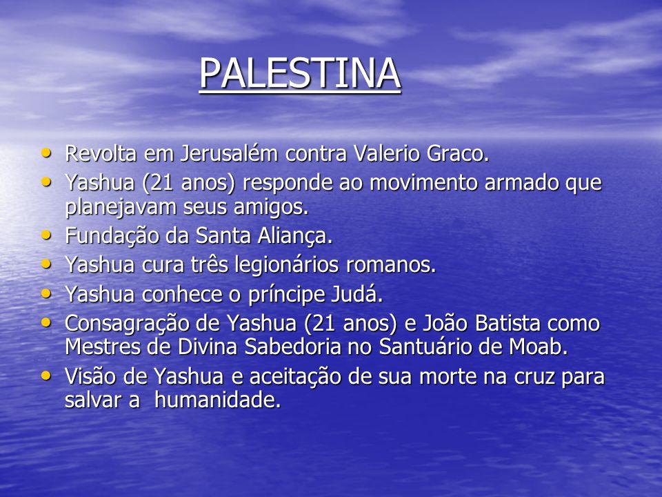PALESTINA Revolta em Jerusalém contra Valerio Graco.