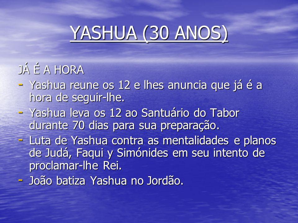 YASHUA (30 ANOS) JÁ É A HORA
