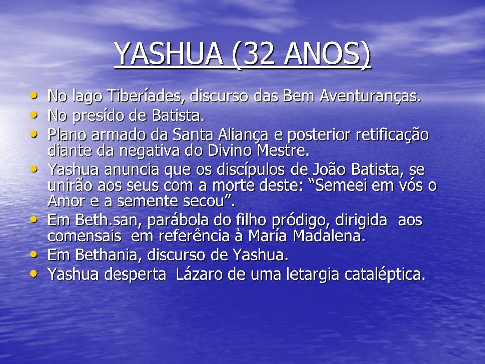 YASHUA (32 ANOS) No lago Tiberíades, discurso das Bem Aventuranças.