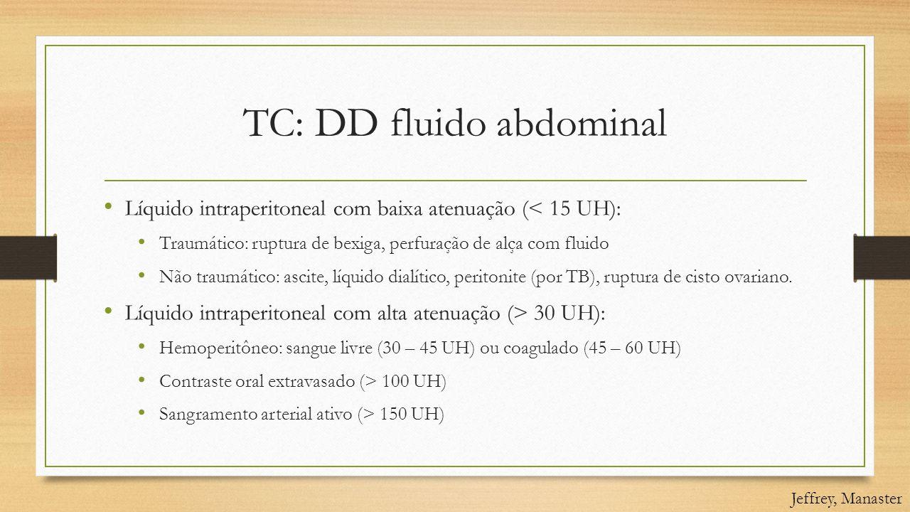 TC: DD fluido abdominal