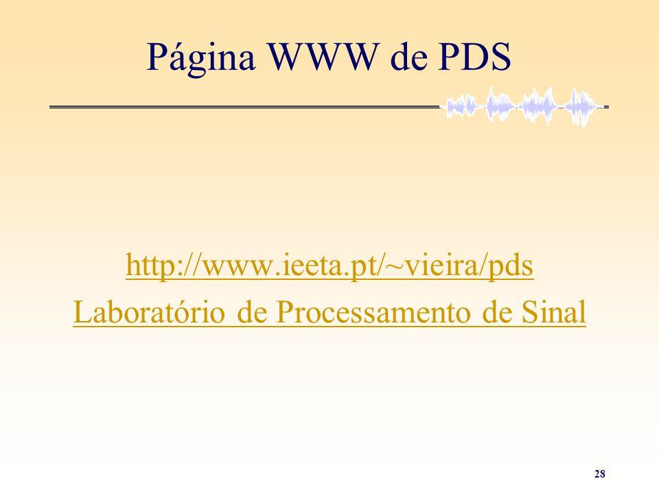Laboratório de Processamento de Sinal