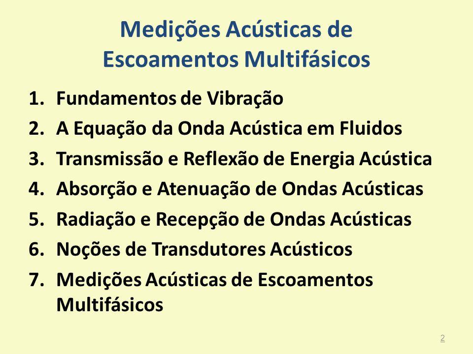Medições Acústicas de Escoamentos Multifásicos