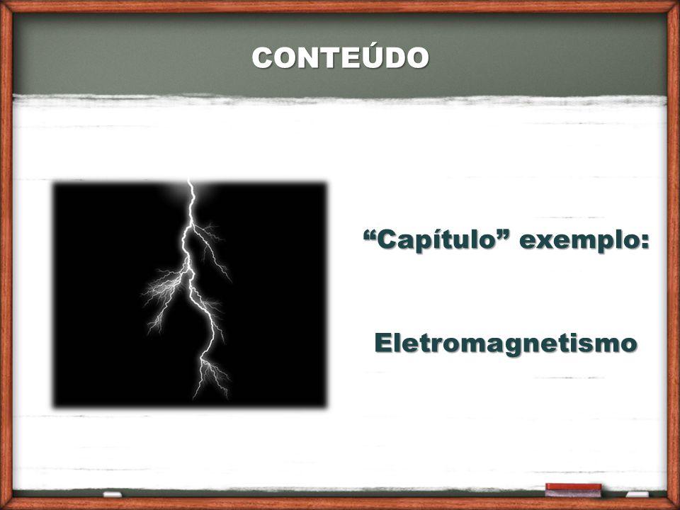 CONTEÚDO Capítulo exemplo: Eletromagnetismo