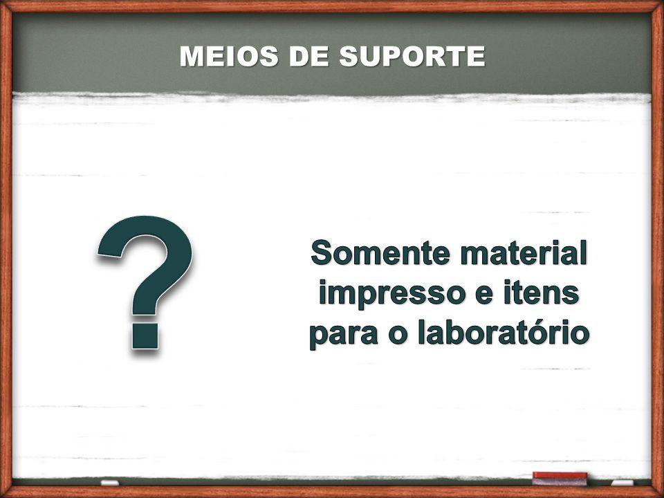 Somente material impresso e itens para o laboratório