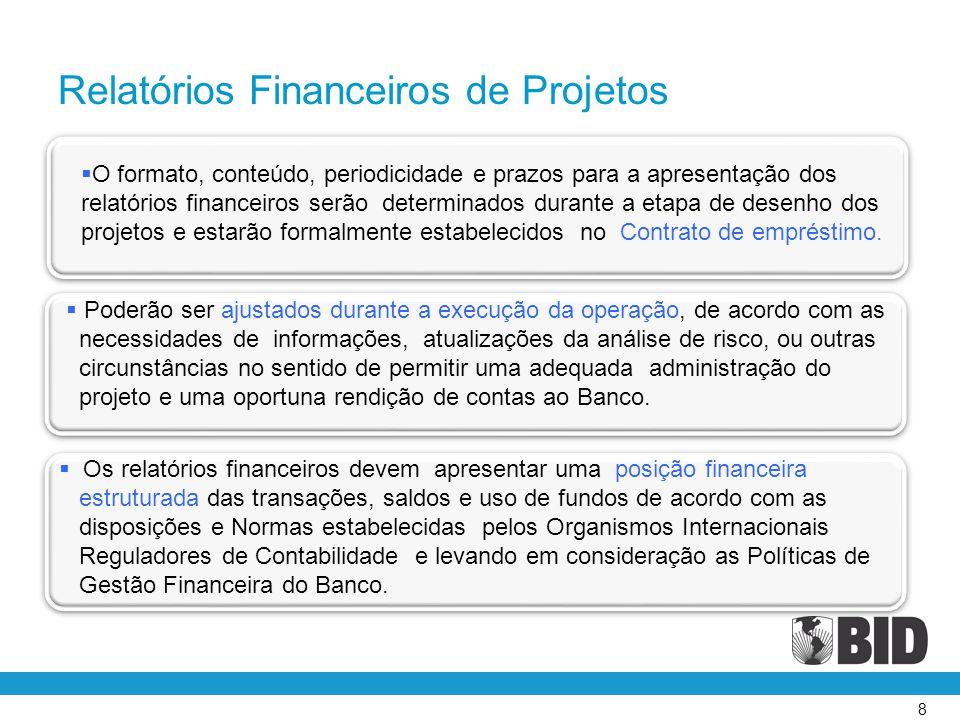 Relatórios Financeiros de Projetos