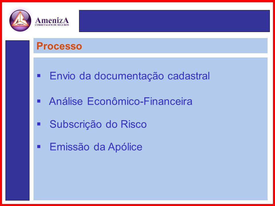 Envio da documentação cadastral Análise Econômico-Financeira