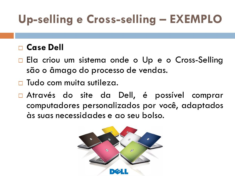 Up-selling e Cross-selling – EXEMPLO