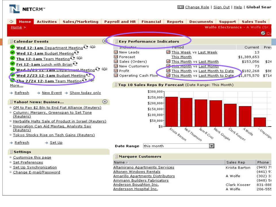Alguns exemplos de interface - relatórios analíticos