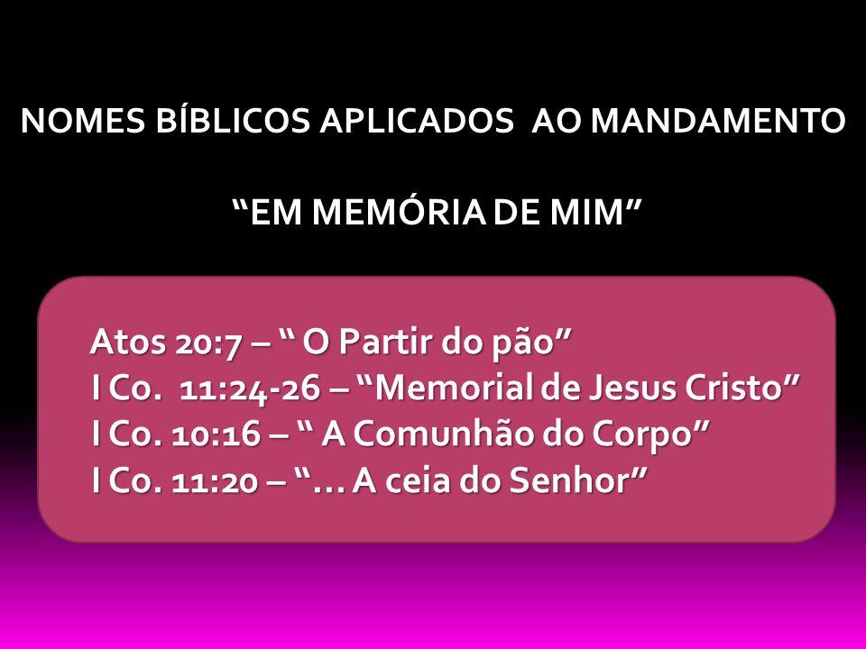 NOMES BÍBLICOS APLICADOS AO MANDAMENTO