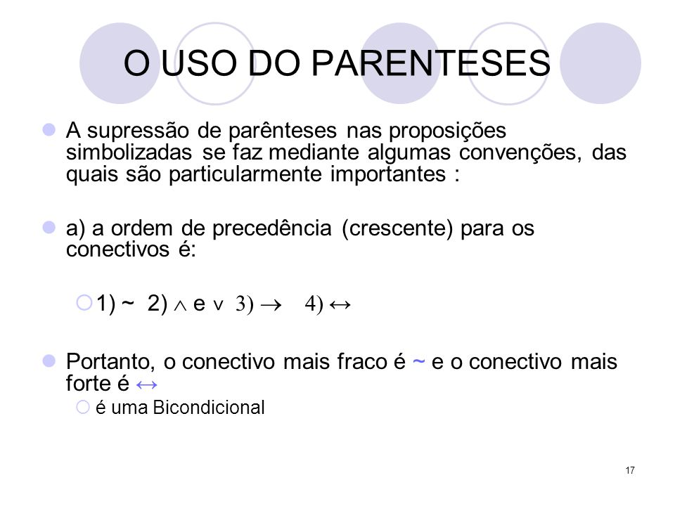 O USO DO PARENTESES