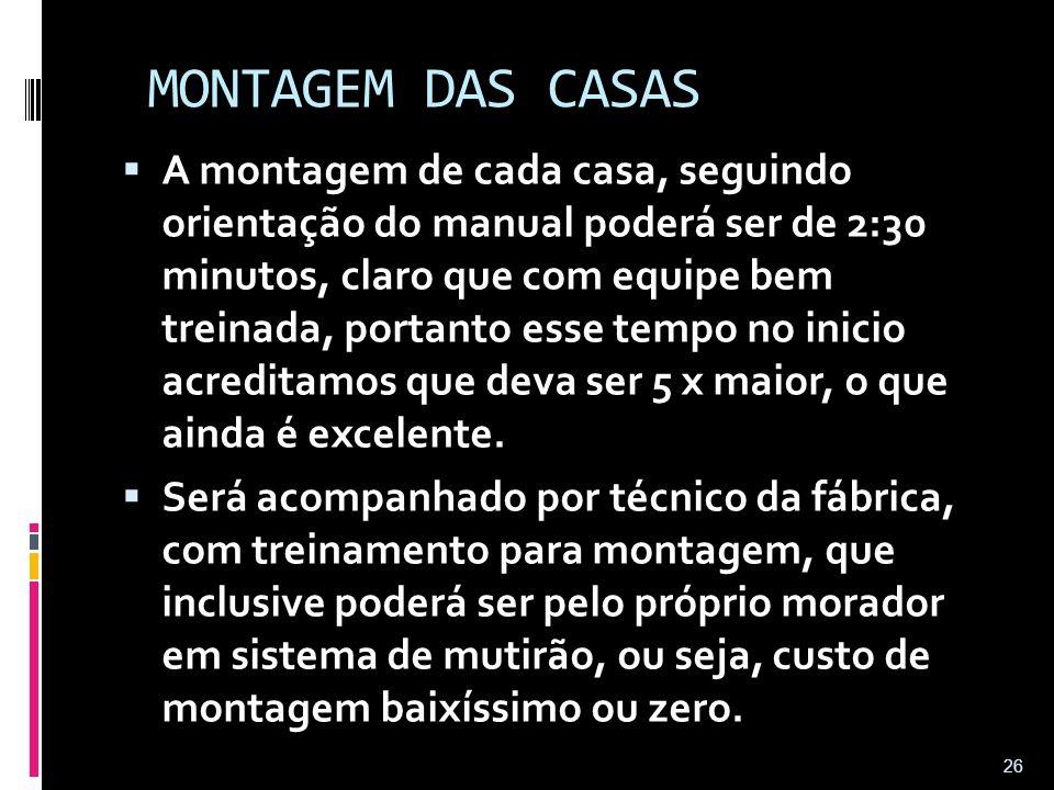 MONTAGEM DAS CASAS