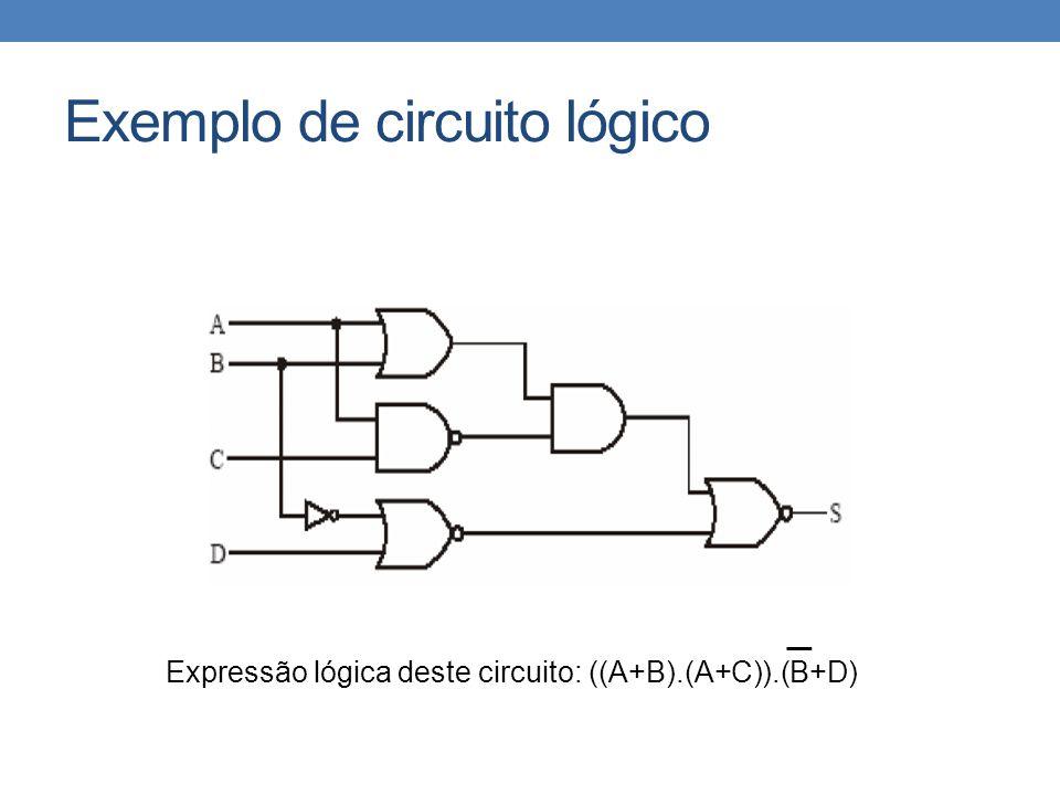 Exemplo de circuito lógico