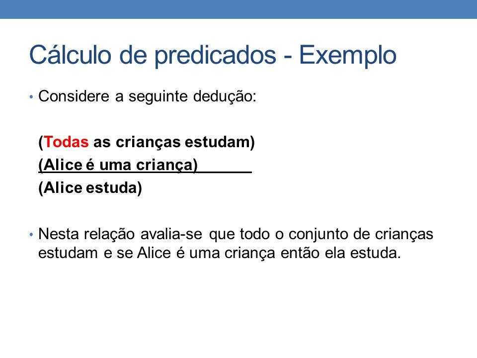 Cálculo de predicados - Exemplo