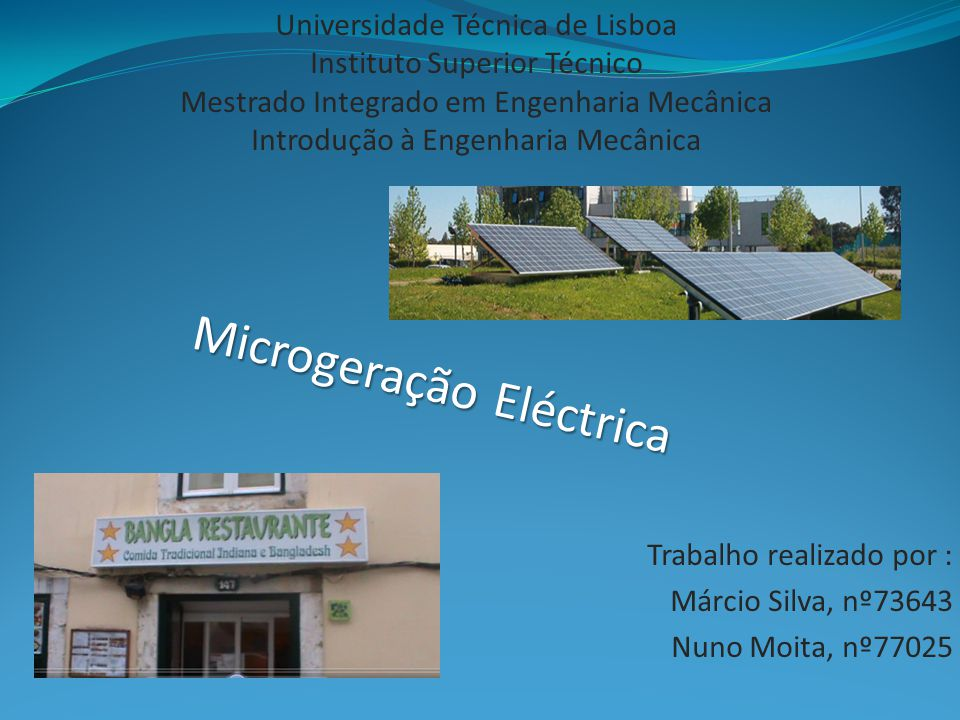 Microgeração Eléctrica
