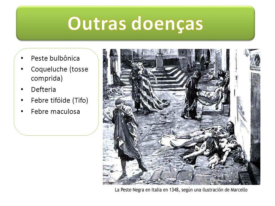 Outras doenças Peste bulbônica Coqueluche (tosse comprida) Defteria