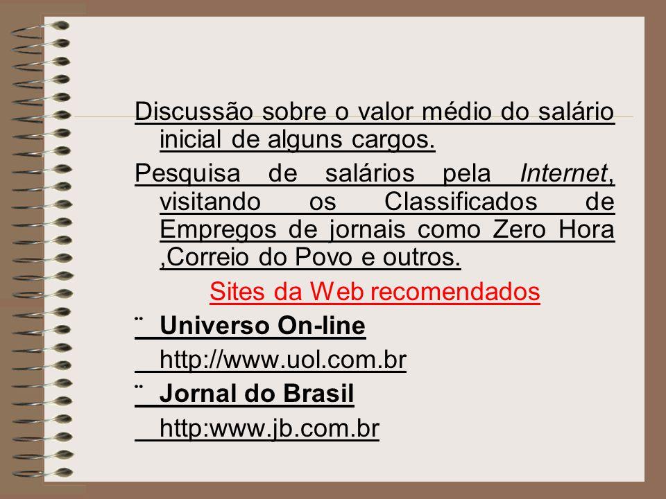 Sites da Web recomendados