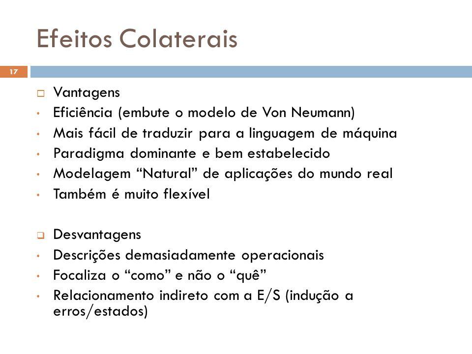 Efeitos Colaterais Vantagens