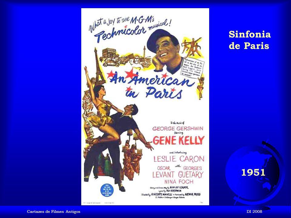 Sinfonia de Paris 1951 Cartazes de Filmes Antigos DI 2008